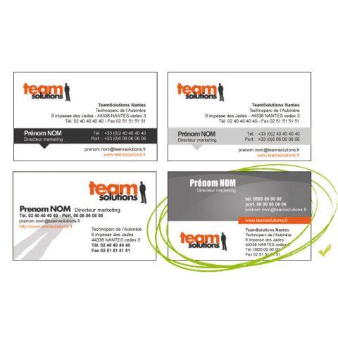 Cartes de visite et brochures 3